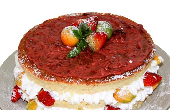 Bolo Naked Cake Light Sensação de Morango e Laranja