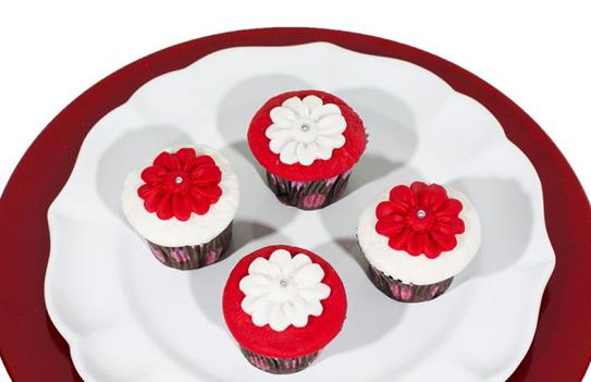 Cupcake Red Velvet Framboesa